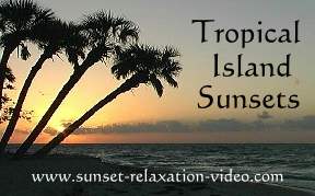 Tropical Island Sunsets video label